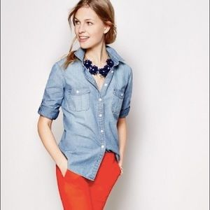 J.Crew Chambray Button Down Shirt